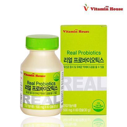 리얼 프로바이오틱스 60캡슐 x 1병 (업체별도 무료배송)