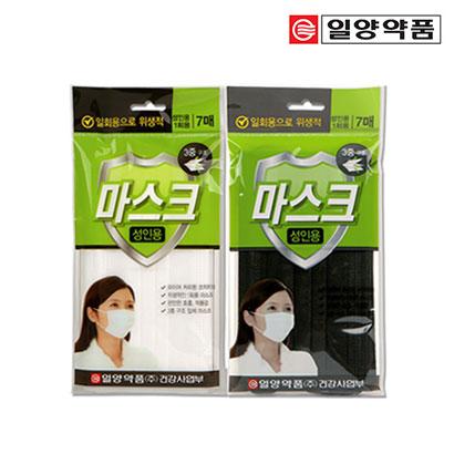 [다다익선] 일양 일회용 마스크 7매입 x 10개 (업체 별도 무료배송)