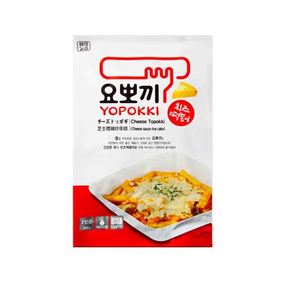[요뽀끼] 고소한 치즈 떡볶이 2인분 240g x 5봉 (업체별도 무료배송)