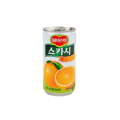 [다다익선] [롯데칠성] 델몬트 스카시 50% 오렌지 180ml*30캔 (업체별도 무료배송)
