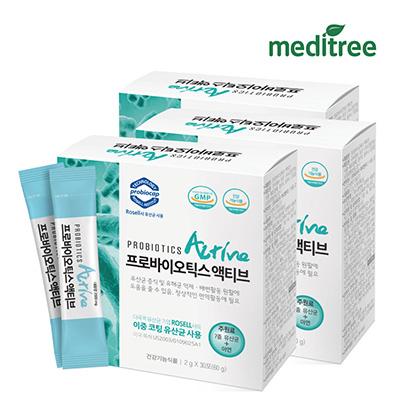 메디트리 프로바이오틱스 액티브 유산균 2g*30포*3박스 (업체별도 무료배송)