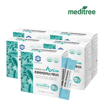 메디트리 프로바이오틱스 액티브 유산균 2g*30포*5박스 (업체별도 무료배송)