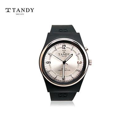 탠디 고급실리콘 손목시계 (야광문자판라이트) T-104 WH (업체별도 무료배송)