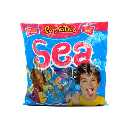 [주말특가] 바다생물모양 팝 타투 캔디 8gx50개입