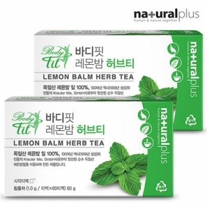 내츄럴플러스 바디핏 레몬밤 허브티 1gx60티백*3박스 (업체별도 무료배송)