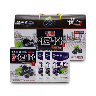 한국팜제약 명품 아로니아 프리미엄 70ml x 30포 (업체별도 무료배송)