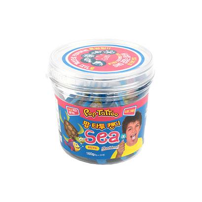 바다생물모양 팝 타투 캔디 8g x 20개입(소다맛)