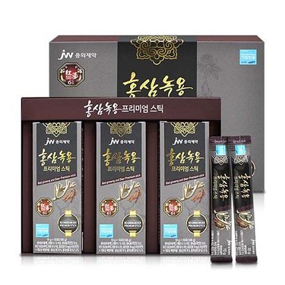 중외제약 녹용홍삼 프리미엄스틱 10g*30포+쇼핑백포함 (업체별도 무료배송)