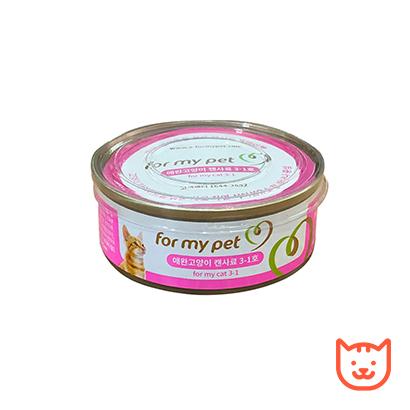 [For my pet] 애완고양이 캔사료 3-1호 (다이어트에 도움이 되는 청 바나나) 92g x 2캔 (업체별도 무료배송)