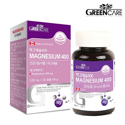 [1+1] 그린케어 마그네슘 400 1,200mg x 90정 (총3개월분) (업체별도 무료배송)