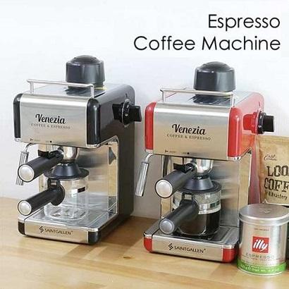 세인트갈렌 베네치아 에스프레소 커피머신 CM6812 (블랙/레드 택1) (업체별도 무료배송)