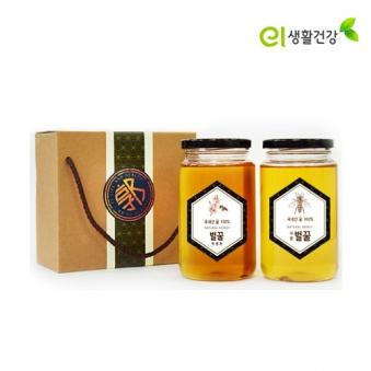 손수 우리 벌꿀 700g x 2개 (사양+야생화) (업체별도 무료배송)
