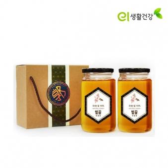 손수 우리 벌꿀 700g x 2개 (야생화+야생화) (업체별도 무료배송)