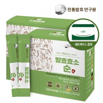 한국전통발효연구원 유기농 발효효소 순 3g*30포 x 2박스 +쇼핑백증정 (업체별도 무료배송)