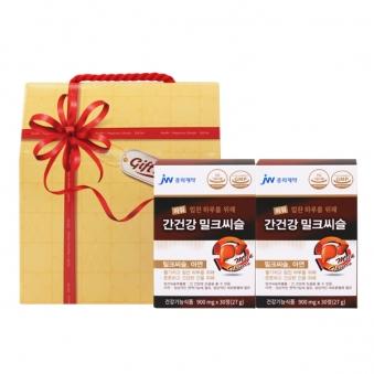 [선물세트] 중외제약 파워 간건강 밀크씨슬 900mg*30정 x 2박스 (업체별도 무료배송)