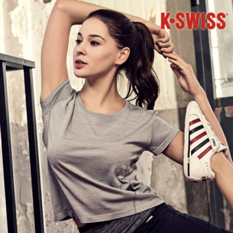 K SWISS 케이스위스 티셔츠(그레이) (업체별도 무료배송)