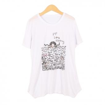 캐릭터 티셔츠 TR018(화이트) (업체별도 무료배송)