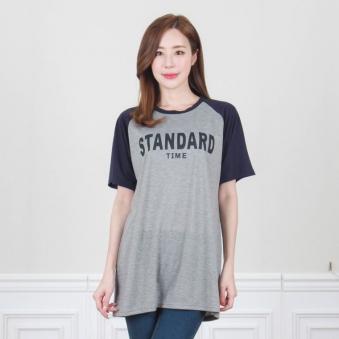 래글런 영문 프린트 티셔츠 T983-1 (업체별도 무료배송)