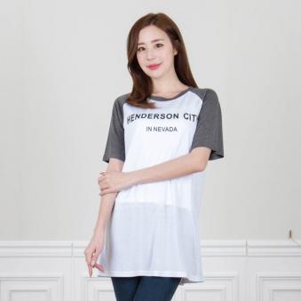 래글런 영문 프린트 티셔츠 T983-2 (업체별도 무료배송)