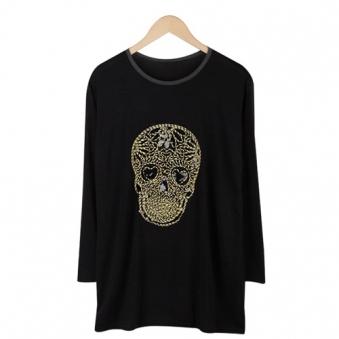 해골 금사 티셔츠 T052-2(블랙) (업체별도 무료배송)