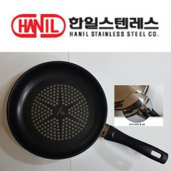 한일스테인레스 통3중 다이아코팅 후라이팬 30cm (업체별도 무료배송)