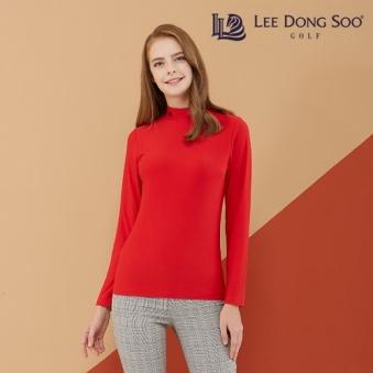 이동수골프 기모 하이넥 여성 티셔츠(레드) (업체별도 무료배송)