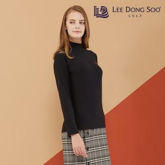 이동수골프 기모 하이넥 여성 티셔츠(블랙) (업체별도 무료배송)