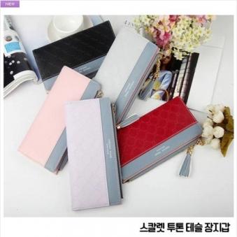스칼렛 투톤 테슬 장지갑 (업체별도 무료배송)