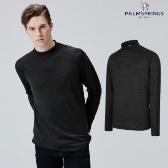 [팜스프링스] 남성 하이넥 폴라 티셔츠(멜란지차콜) (업체별도 무료배송)