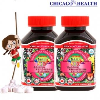 시카고헬스 데일리 어린이 칼슘&마그네슘&비타민-D (총2병/90일분) (업체별도 무료배송)