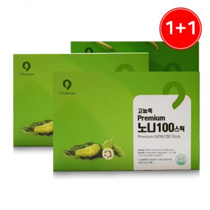 [1+1] 프리미엄 고농축 노니 100스틱 13g*30포+쇼핑백증정 (업체별도 무료배송)