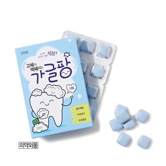 가글팡 휴대용 씹는가글 x 5팩 (민트향 60매입) (업체별도 무료배송)