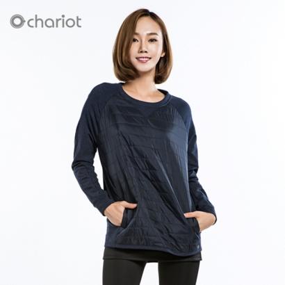 채리어트 여성 스트릿 패딩 맨투맨 티셔츠 (업체별도 무료배송)