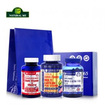 [선물세트] 그린소스 종합비타민(2개월) + 오메가3 1150(3개월) + 복합루테인+비타민(3개월) (총3병/8개월분) (업체별도 무료배송)
