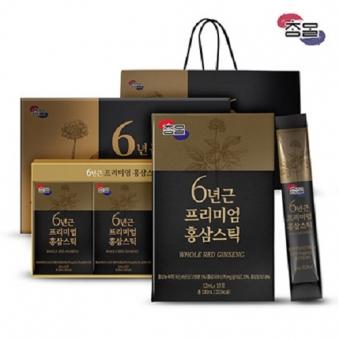 참말 6년근 프리미엄 홍삼스틱 1박스(12mL*30포) + 쇼핑백증정 (업체별도 무료배송)