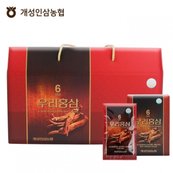 [개성인삼농협] 6년근 우리홍삼 50ml * 30포 (업체별도 무료배송)