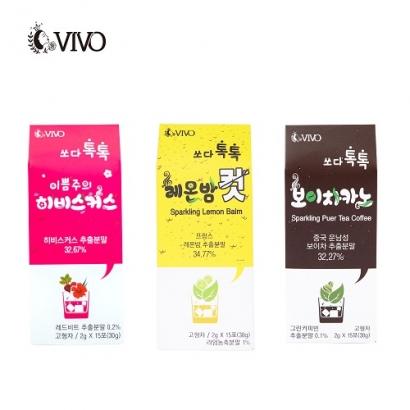 쏘다톡톡 3종 세트(레몬밤 2g x 15포 + 히비스커스 2g x 15포 + 보이차 2g x 15포) (업체별도 무료배송)
