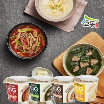 [다다익선] 교동 얼라이브빅밥 사골곰탕 460g x 12개 (업체별도 무료배송)