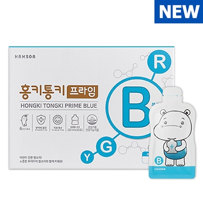 함소아 홍키통키 프라임 블루 20ml*10포 x 3박스-(8세~10세) (업체별도 무료배송)