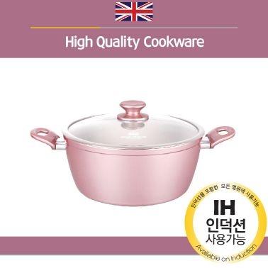 로얄그래프톤 로사 인덕션겸용(IH) 세라믹냄비 양수24 (업체별도 무료배송)