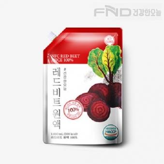FND건강한오늘 레드비트 착즙원액 1L X 1팩 (업체별도 무료배송)