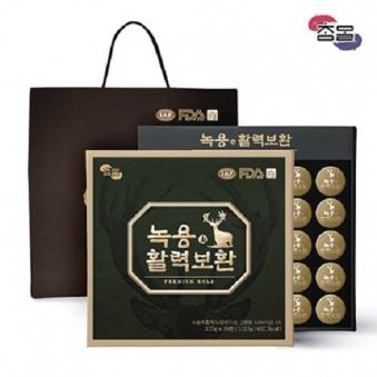 참말 녹용 활력보환 1박스(30환) + 쇼핑백 증정 (업체별도 무료배송)