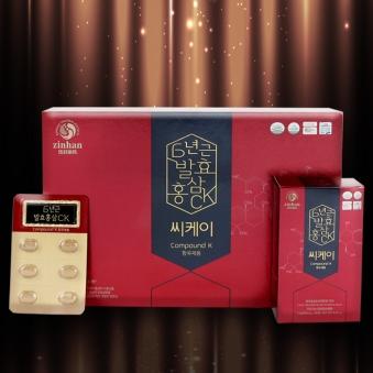 6년근 발효홍삼CK 500mg*60캡슐 (업체별도 무료배송)