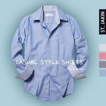 에스티야긴 슬림핏 영캐쥬얼 옥스포드남방 셔츠 STJ9SS02 (업체별도 무료배송)