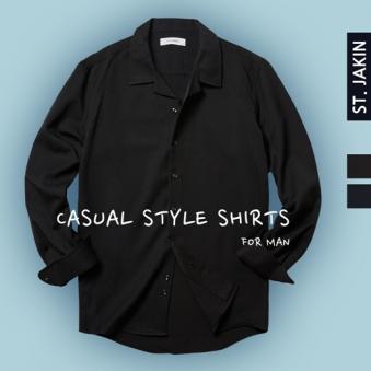 에스티야긴 노멀핏 노타이 카라 셔츠 STJ9SS15 (업체별도 무료배송)