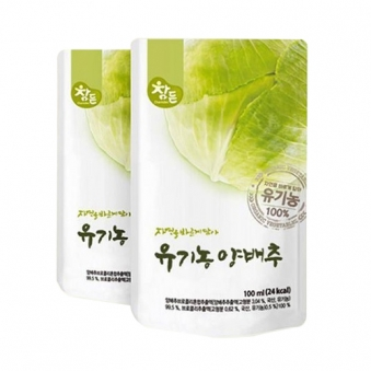참든 유기농 양배추 100ml 30포(벌크) (업체별도 무료배송)