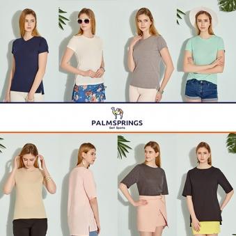 [팜스프링스] 여성 에센셜 반팔티셔츠 8종 택1 (업체별도 무료배송)