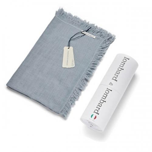 [롬바드 앤 롬바드] 이태리 수입 명품 스카프(그레이) + 원통박스 (업체별도 무료배송)