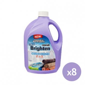 [다다익선] 브라이튼 올인원 액체세제 2.5L X 8개(세제+섬유유연제) (업체별도 무료배송)
