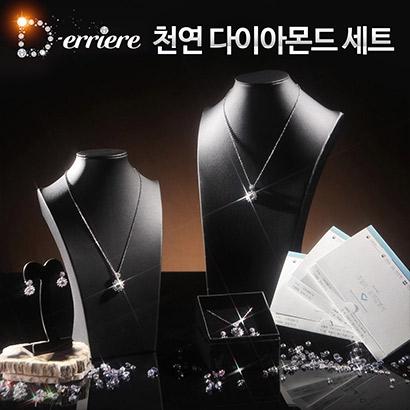 디에리에 천연 다이아몬드 세트 (목걸이+귀걸이) (업체별도 무료배송)